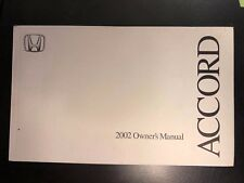 2002 Honda Accord Owners Manual