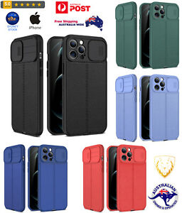 Litchi Texture Sliding Camshield TPU Protective Case For iPhone ^ Sydney Stock ^