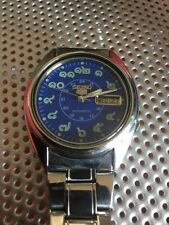 Seiko 5 Automatic Rare Blue Face Thai Numbers Vintage Watch