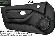 GREEN STITCH 2X FULL DOOR CARD TRIM LEATHER SKIN COVERS FITS MG MGTF MK2 00-06