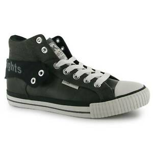 British Knights Roco Fold PU Shoes Mens Gents High Top Laces Fastened Padded