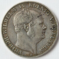 Bergbautaler Silber 18,39 g Preussen 1858 A Friedrich Wilhelm IV. Ausbeutetaler