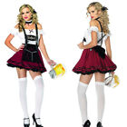 Ladies Beer Maid Wench Costume Oktoberfest German Fancy Dress Halloween Cosplay