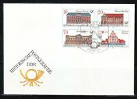 Germany DDR 1987 FDC cover Mi 3067-3070 Sc 2583-2586 Historic Post Offices Block