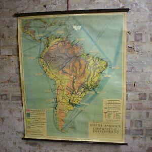 Vintage 1956 South Amercia School Philip Series Teaching School Map England