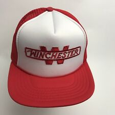 WINCHESTER foam mesh TRUCKER Snapback HAT Embroidered Guns rifles Never Worn