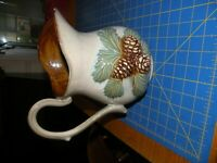 """tii Collections Ceramic PINE CONE PITCHER  10.5""""   LABEL ON BOTTOM"""