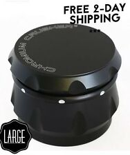 Tobacco Grinder 2.5 inch Aluminum Herb/Spice/Weed Crusher Alloy 4 Piece - Black