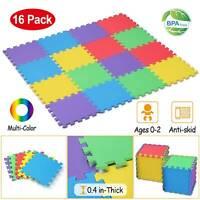 16Pcs Kids Puzzle Exercise Play Mat/Interlocking EVA Floor Mat for Infant Baby