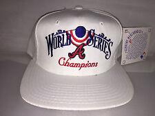 Vtg Atlanta Braves Snapback hat cap 1995 World Series MLB Baseball Annco chipper