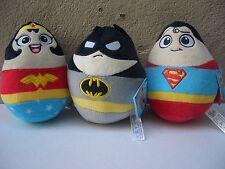 DC Super Heroes Plush Egg Shaped Batman Wonder Woman Superman New With Tags