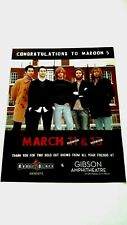 "Maroon 5 ""House Of Blues Concerts"" '05 Rare Original Print Promo Poster Ad"
