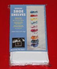 Shoe Organizer Closet Hanging 6-10 Clear Shelves Whitmor