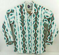 Panhandle Slim Mens Large Long Sleeve Pearl Snap Western Shirt Aztec Navajo
