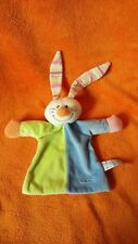 Tiamo Collection Rabbit Comforter Blankie Doudou Cuddle Cloth Green Blue Striped