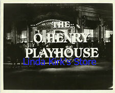 The O. Henry Playhouse Promotional Photograph Used For TV Promos B&W
