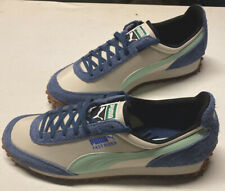 Puma Fast Rider Mens White/Blue Lace Up Low Top Sneakers Shoes Sz 11