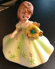 "Josef light green dress figurine with rhinestone ""May"""