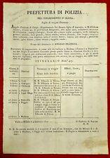 AMG22-PERIODO NAPOLEONICO, MILANO, DIPARTIMENTO D' OLONA, POLIZIA- DETENUTO,1810