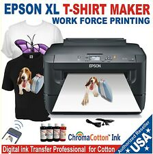 EPSON PRINTER XL T-SHIRT MAKER PLUS REFILLABLE BOTTLE INK COMPLETE STARTER PACK