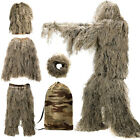 Ghillie Suit 3D Lightweight Hooded Camouflage Ghillie Breathable Hunting Suits