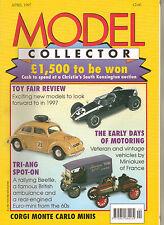 MODEL COLLECTOR Magazine Apr 1997 EFE Corgi Minis Triang Spot-On Siku Tankers