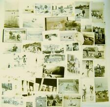 Lot of 41 photos of people enjoying the BEACH or swimming; VG condition