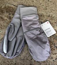 NWT Lululemon M/L Run Fast Gloves Mittens Gray DKCH/SLVI  2 4 6 8 10 12 — $42