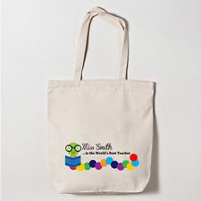 Personalizado Bolsa De Lona Gracias Profesor Regalo de abandono escolar Caterpillar