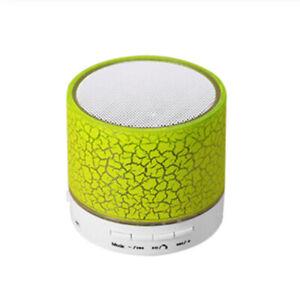 Bluetooth Speaker Mini Wireless Loudspeaker Crack LED TF Card USB  for Phone