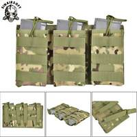Tactical Triple 5.56 .223 Rifle Magazine Pouch Open Top MOLLE Holster Ammo Bag
