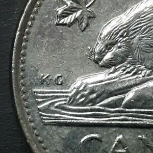 2006  error extra water line near K.G   Canada 5 cents