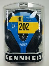 Sennheiser HD 202 DJ Headphones Stereo Sound Great Bass Wind Up Cable Clip