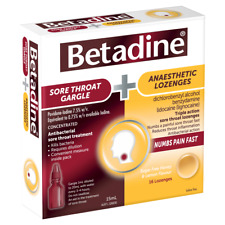 Betadine Sore Throat Gargle + Anaesthetic Lozenges Kit (15mL + 16 Pack)