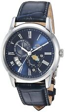 Orient Men's Sun & Moon V3 Stainless Steel & Leather Automatic Watch FAK00005D0