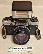 VINTAGE Olympus OM10 FC 35mm W/ OM-system 1:18 50mm lens and Flash T20 TESTED FS