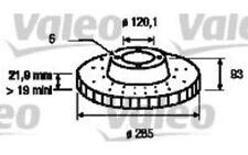 VALEO Disco de freno (x2) Trasero 285mm ventilado VOLKSWAGEN LT 197059