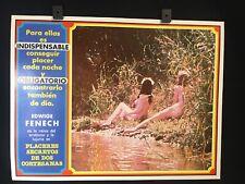 "Vintage Italian EDWIGE FENECH Erotic Italy Original Mexican Lobby Card 16""x12"""