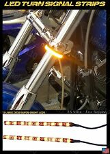 Super Bright Amber Turn Signals LED Motor Cycle Sport Bike Lite Blinker Strips