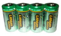 4 pc CR123 CR123A DL123 3V primary lithium battery photo Expiration 2026 USA