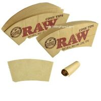 2 PACKS RAW NATURAL ROLLING PAPER CONE TIPS Fit 78mm,79mm,110mm and King Size