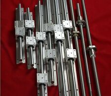 SBR16 SBR20 linear rail+3 ballscrew RM1605-350/850/1150mm+3 set BK/BF12 bearing