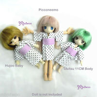 Hujoo Baby Obitsu 11cm Doll Azone Picco Neemo Outfit Japanese Dots Yukata White