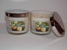 2 Bath & Body Works Lemon scented Filled Candle 4 oz each NEW fresh