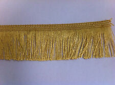 Antique Gold 75mm Cut Rayon Fringe, Sash Fringe, Fringing