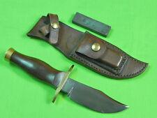 RARE US Custom Hand Made BILL MORAN Fighting Knife & Sheath Stone
