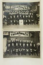 Vintage WWII Military Photo Lot 2 USS 418 Thornback Tench Class Submarine Crew