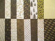 """All That Glistens 6x6"""" Christmas Scrapbook Backing Papers x16 black & gold"""