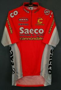 MEN CANNONDALE SAECO CYCLISMO CYCLING BICYCLE SHIRT JERSEY MAGLIA MAILLOT SIZE L