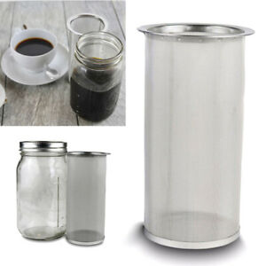 Cold Brew Coffee Infuser 32oz Stainless Steel Tea Filter For Wide Mason Jar